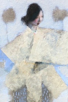 Veronique Paquereau, Akimiko, Mixed Media, 90x30 cm, €.800,-