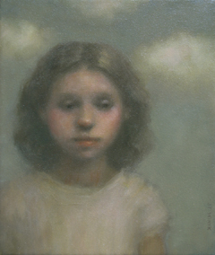 JoAnna Winik, in the clouds, Oil on canvas, 38x32 cm, €.950,-