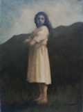 J.T. Winik, Nostalgia Girl 3, Oil on canvas, 33x24 cm, €.650,-